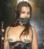 Fetish girl in erotic bdsm live show
