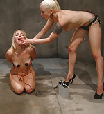 Controlled and strapon-fucked by mistress