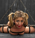Hogtie suspension & unique hair bondage