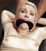 Blondie gets roped and hard anal trained