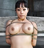 Asian beauty roped and fucked til she squirts