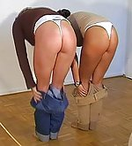 Two girls caned hardly