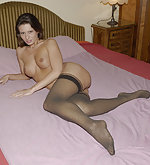 Girls in nylons at home