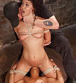 Two sluts in tight bondage & double sybian rides