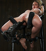 Fixed, pegged, caned and machine fucked