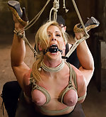 Back breaking hogtie & intense inverted suspension