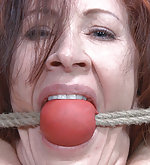 Redhead roped, used, plugged and vibed