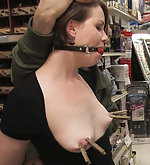 Bound and helpless in the hardware store