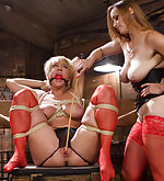 Two slavegirls playing in the dungeon