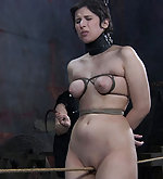 Naked, roped, trained, fucked with strapon