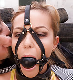 Jennifer gets tied and fucked in public