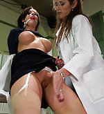Bound and ass fucked by her lady boss