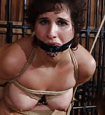 Slut gets roped, caned, vibed and fisted