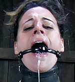 Innocent girl locked, clamped, and dildoed