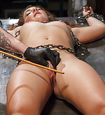 Shop slut gets a bondage lesson from boss
