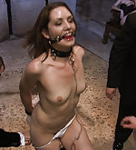 Bound and humiliatly trained in public