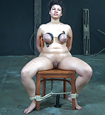 Cuffed, tied to a chair, locked and tortured