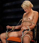 Bound, fucked, made to suck cock, suspended