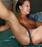 Whip brunettes rude spread pussy