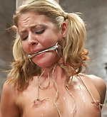 Beautiful girl cums in predicament bondage