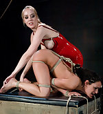 Girl on girl domination and bondage