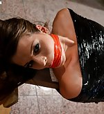 Monalee wrapped, mouth-stuffed, tape-gagged
