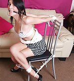 British girls sexy dressed and tightly tied