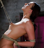Brunette in tough predicament bondage