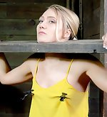 Athletic blond tied & turned nto a blowjob machine