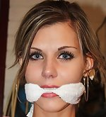 Irena chair-tied and cleave-gagged