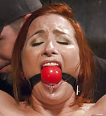 Redhead fixed, pegged, clamped and caned