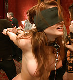 Bound, blindfolded, double penetrated
