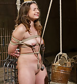 Tough lesbian slut roped and punished