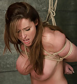 Christina gets roped for non stop orgasm
