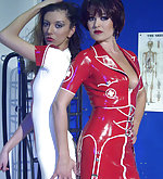 Two nurses from bdsm latex clinic