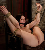 Bound to a chair, fingered and vibed