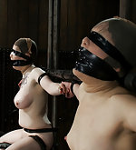 Two sluts strapped, muffled and vibed