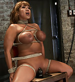 Bound brutally to a chair and vired to cum