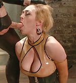 Latex dominatrix bound and ass fucked