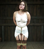 Sexy dressed and tightly roped