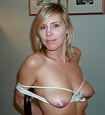 Linda tied at her home