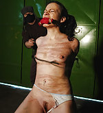 Kathy is tied, gagged and brutal whipped