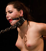 Chained, restrained and made to cum