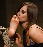Bondage, fisting, foot licking, strapon fucking