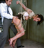 Sexy girl fucked in suspension bondage
