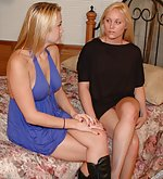 Two blondies bare bottom spanked