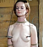 Chastity belt, rope bondage, trained, caned