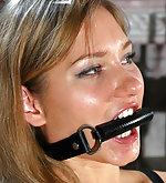 Bit-gagged girl teases and tortures herself