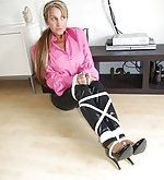 Gorgeous girls tied up and gagged