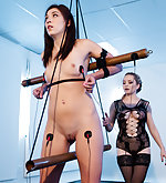 Slut gets tied and electro-shocked